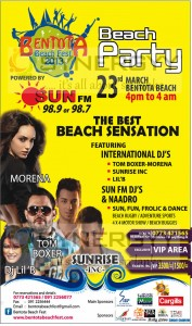 Bentota Beach Fest 2013 – 23rd March 2013 at Bentota Beach