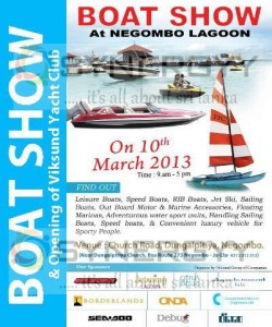 Boat Show at Negombo Lagoon, Srilanka on 10th March 2013