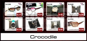 Buy Crocodile Branded Watches and Sunglasses for 12 months installment