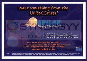 Buy anything for USA and send via SRILAK to Sri Lanka