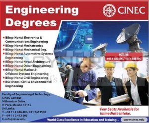 CINEC Engineering Degree Programme 2013/2014