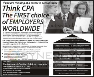 Certified Public Accountants (Sri Lanka) Form February 2013 – Course Details and other Information
