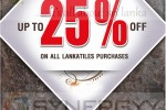Discounts upto 25% from Lanka tiles – March 2013