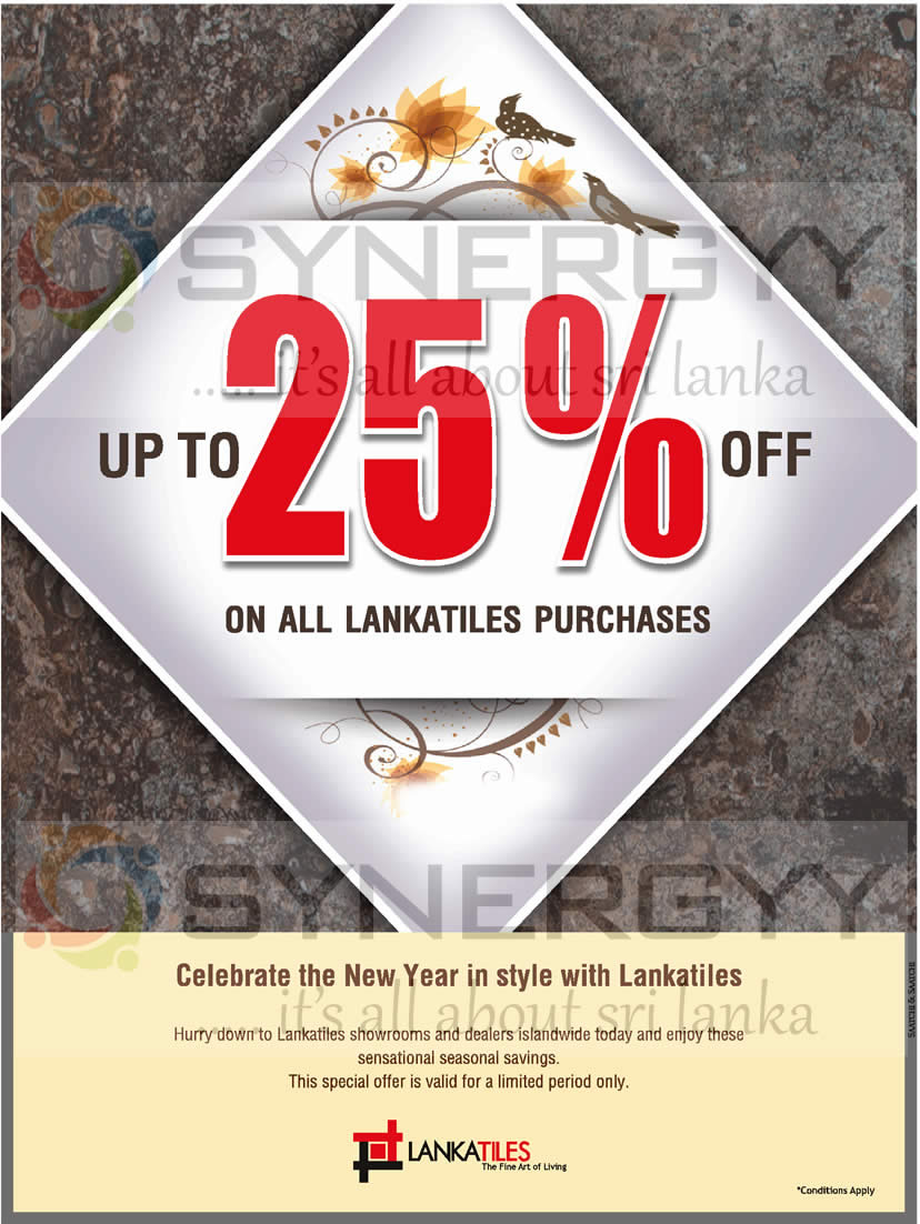 S Upto 25 From Lanka Tiles March 2017