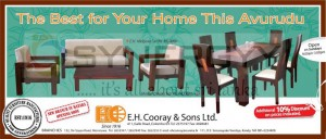 E.H Cooray & Sons Furniture for sale in this New Year season with 10% Discount