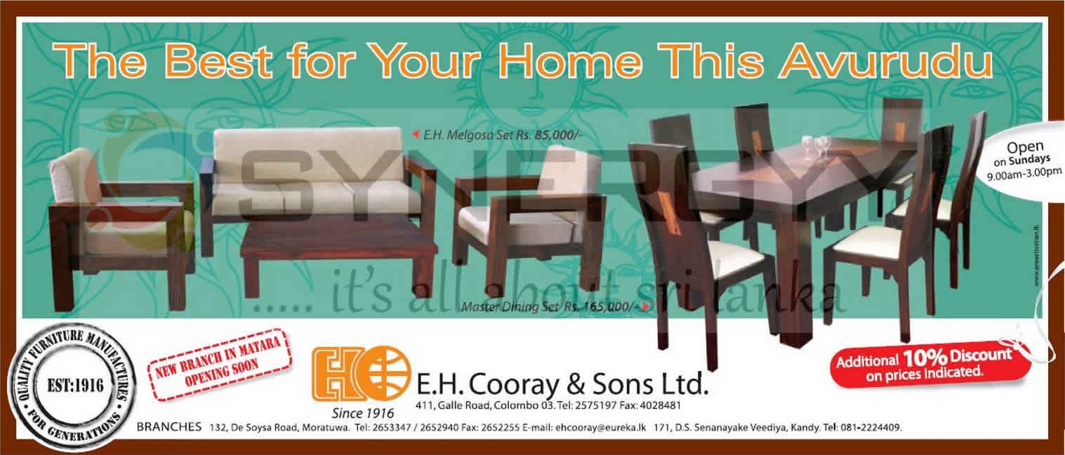 E H Cooray Amp Sons Furniture For Sale In This New Year Season With 10 Discount 171 Synergyy
