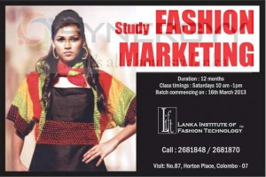 Fashion Marketing Course by Lanka Institute of Fashion Technology – March 2013