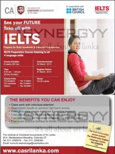 IELTS from CA Srilanka - March 2013