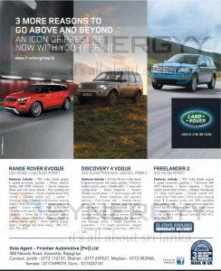 Land Rover Prices in Sri Lanka for permit Holders