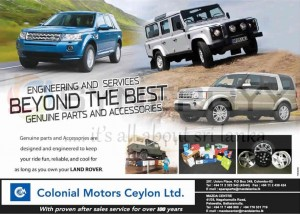 Land Rover all needs at one stop in Sri Lanka from Colonial Motors