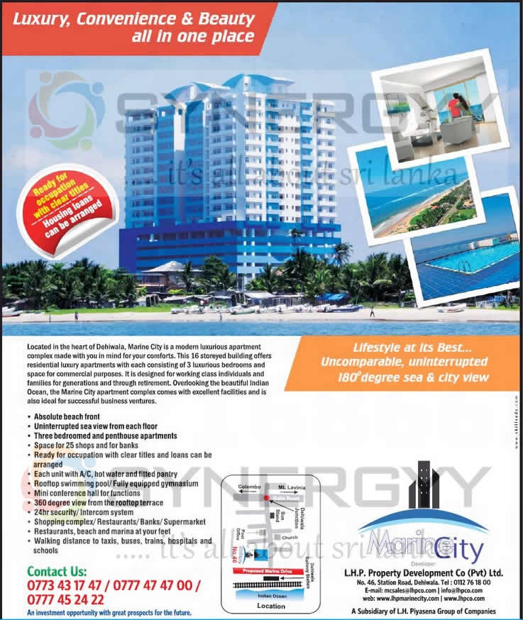 Charming Marine City Luxury Apartment For Sale On Dehiwala