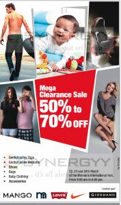 Mega Clearance Sale discounts upto 50% to 70% in Sri Lanka – 22nd to 24th March 2013
