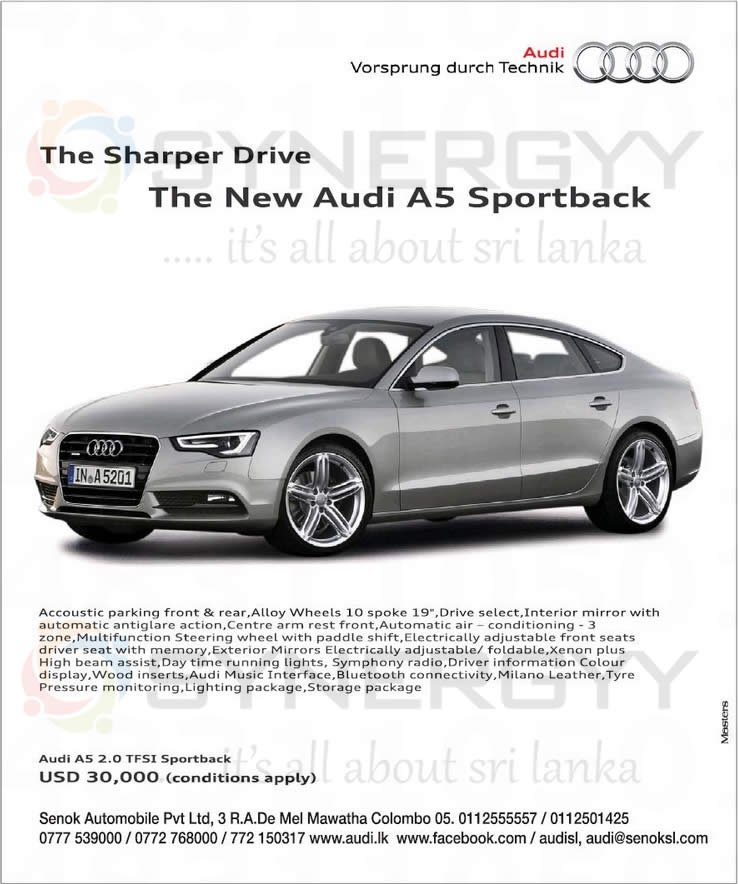 New Audi A5 Sport Back For USD 30,000 In Sri Lanka « SynergyY