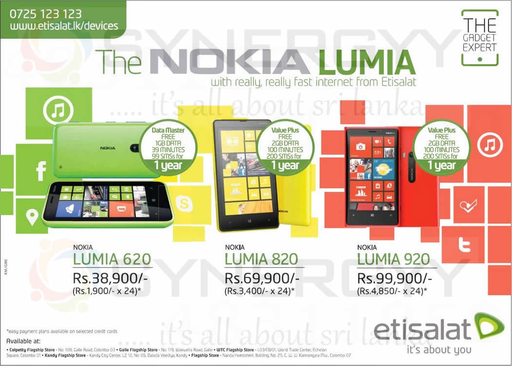 New Nokia Lumia 620,820, 920 Special Price and Instalment by