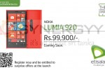 Nokia Lumia 920 Price in Srilanka – Rs. 99,900.00 from Etisalat