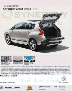 Peugeot 3008 SUV Prices in Sri Lanka – Rs. 5,550,000.00 (USD25,000 for Permit Holders) – Car Mart Limited