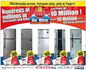 Refrigerator sale in Sri Lanka – Singer