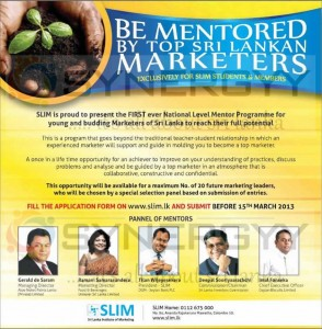SLIM National Level Mentor Programme in Srilanka on 15th March 2013