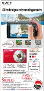 SONY Cyber Shot Camera for Rs. 17,990.00 from Siedles