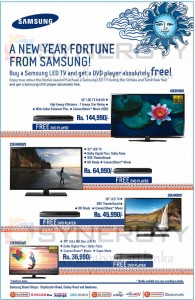Samsung LED TV special prices for Sinhala  Tamil New Year Offers