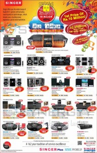 Singer Srilanka Sinhala /Tamil New Year 2013 Offers for Sound Systems
