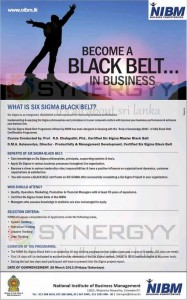 Six Sigma Black Belts in Sri Lanka with NIBM
