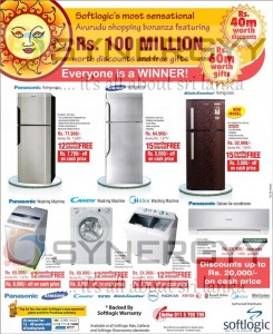 Softlogic New Year Offer for Refrigerator, Washing Machine and Air Conditioner