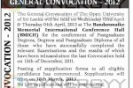 The Open University of Sri Lanka General Conversation 2012 – 3rd and 4th April 2013