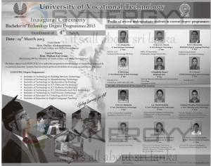 University of Vocational Technology Sri Lanka Degree Programme