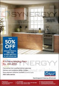 Upto 50% Off on selected kitchens items from Centre points till 30th April 2013