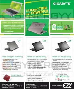 GIGABYTE Laptops in Srilanka Prices from Rs. 82,000.00 Onwards