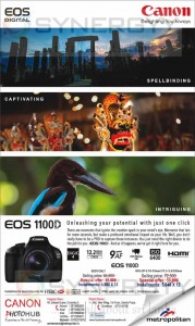 Canon EOS 1100D Special price of Rs. 51,900.00 – April 2013