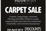 Carpet Sales – Discount up to 60% on 6th April 2013