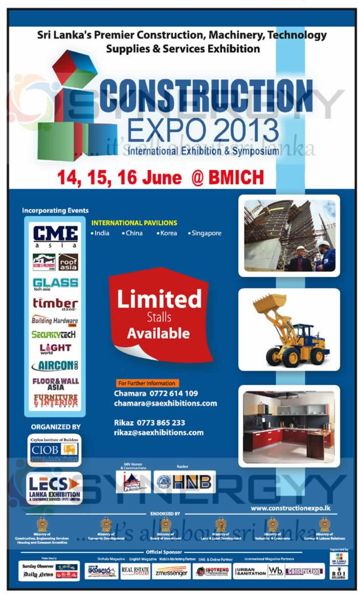Exhibition Stall Builders In Sri Lanka : Construction expo stall booking open now april