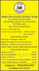 Crab paradise Special Promotions for the Sea food Lovers