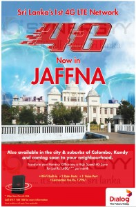 Dialog 4G LTE Network Now in Jaffna