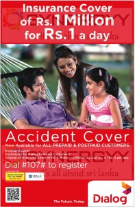 Dialog Insurance Cover for Million for Rs. 1.00