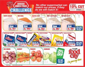 Food City Special price Discount for Avurudu 2013 +10% additional discount for Sampath bank Credit Card