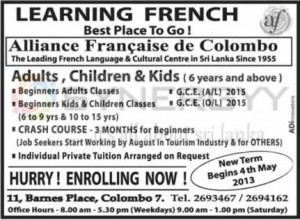 French Language classes in Colombo