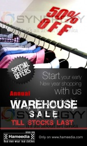 Hameedia 50% Off on annual warehouse sale – April 2013