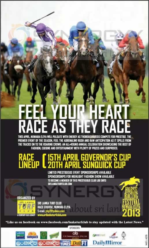 Horse Racing Festival in Nuwara Eliya 2013 on 15th and 20th April 2013