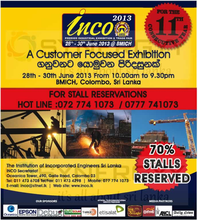 Exhibition Stall Design Sri Lanka : Inco exhibition at bmich stalls available for