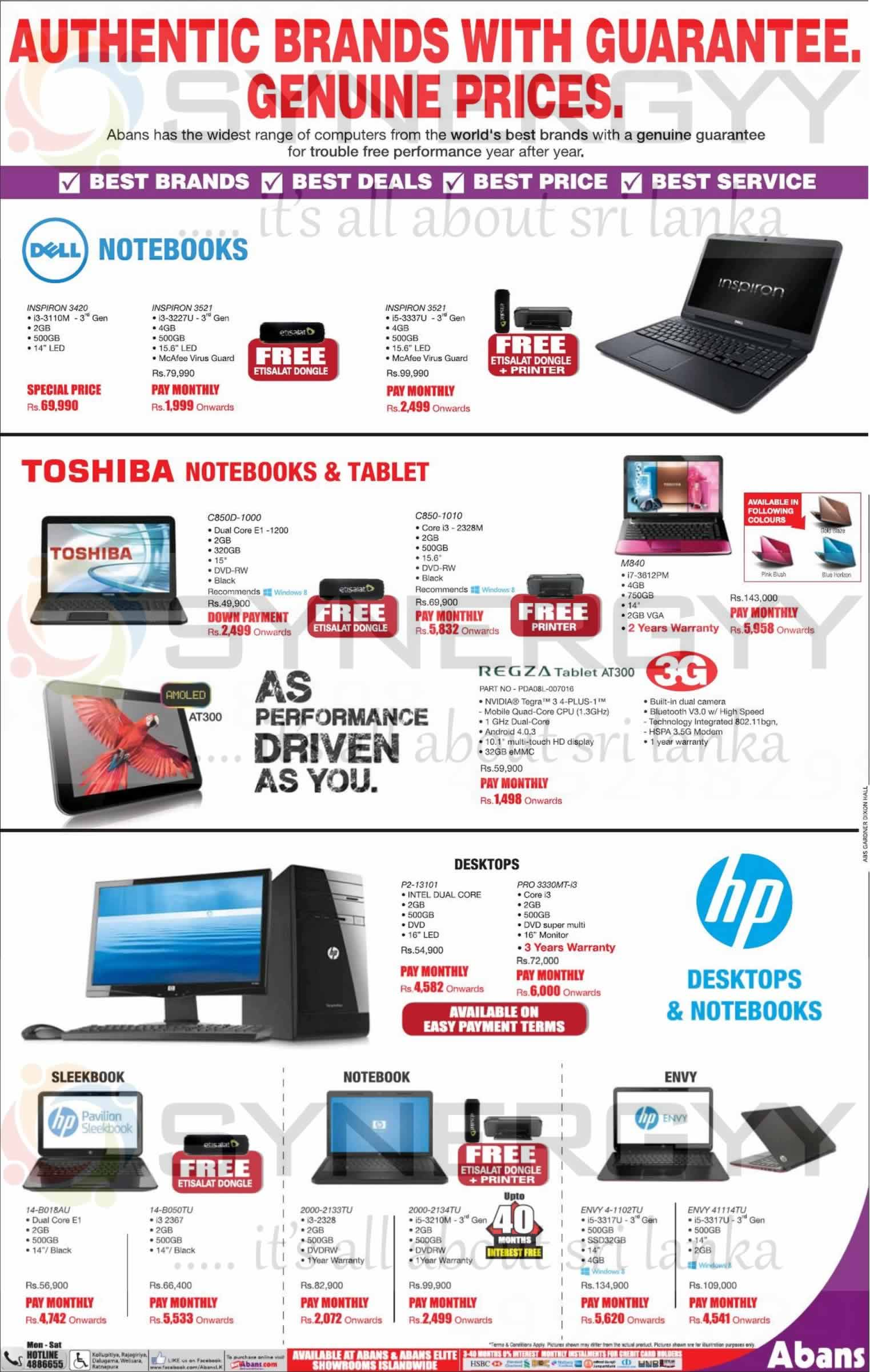 Laptops Desktops And Tablets Prices In Sri Lanka From Abans April