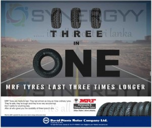 MRF Tyres in Sri Lanka – Rs. 2,800.00 Upwards