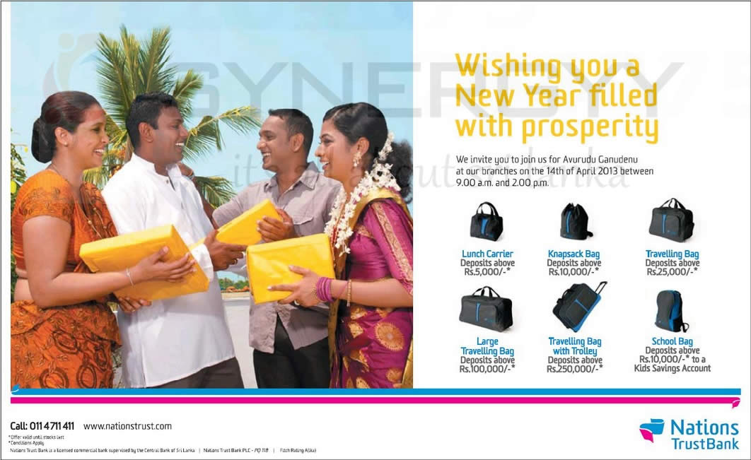 Nations Trust Bank Sinhala & Tamil New Year 2013 Gifts