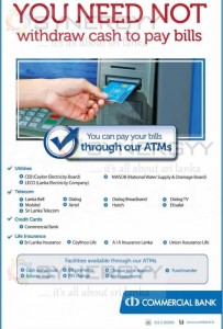Pay your Bill through ATM in Sri Lanka