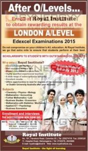 Royal Institute London AL 2015 Enrolment – Open Now