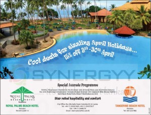 Royal Palms Beach hotel 15% Discounts from 9th to 30th April 2013