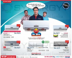 SINGER Air conditioner Promotion in Sri Lanka – 10% Discounts for all credit Card – April 2013
