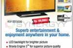 "Sony 32"" LED TV for Rs. 69,990.00 in Siedles – April 2013"